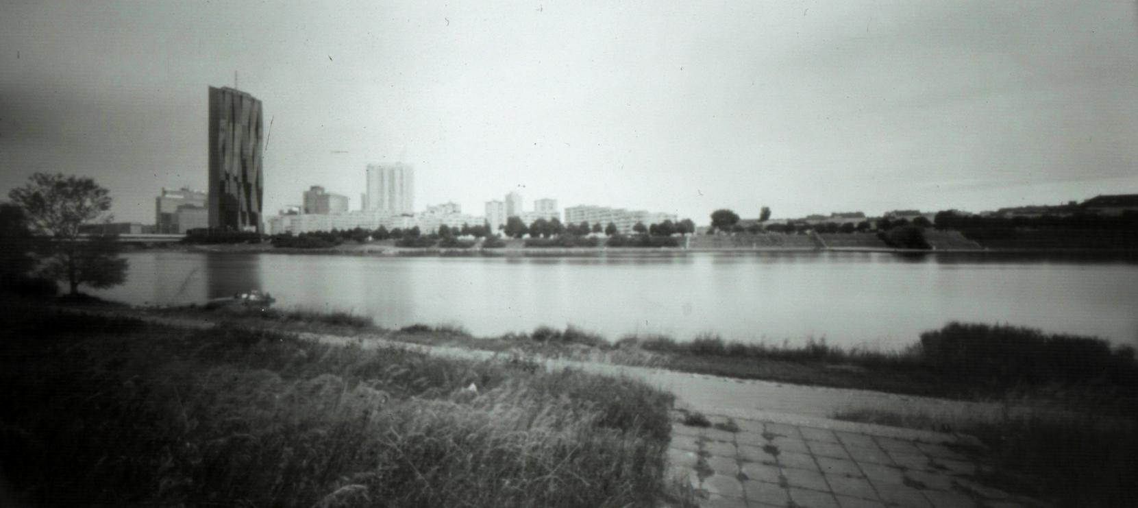 Dominique and the Danube. Vienna Pinhole
